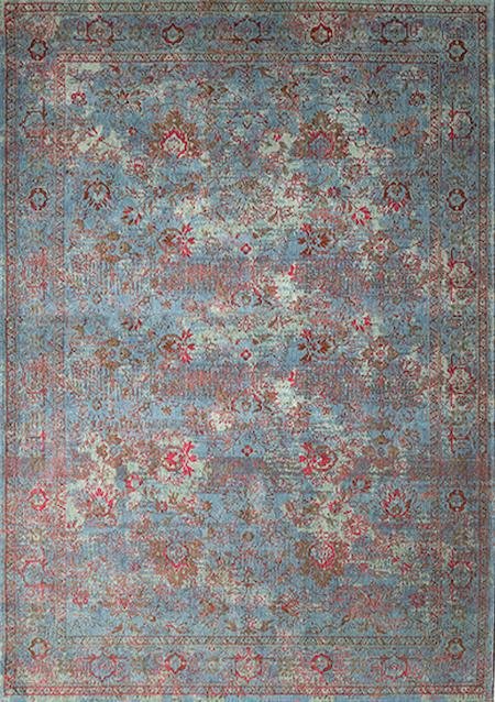 Teppich Vintage Allegro Giardino Blu Verde
