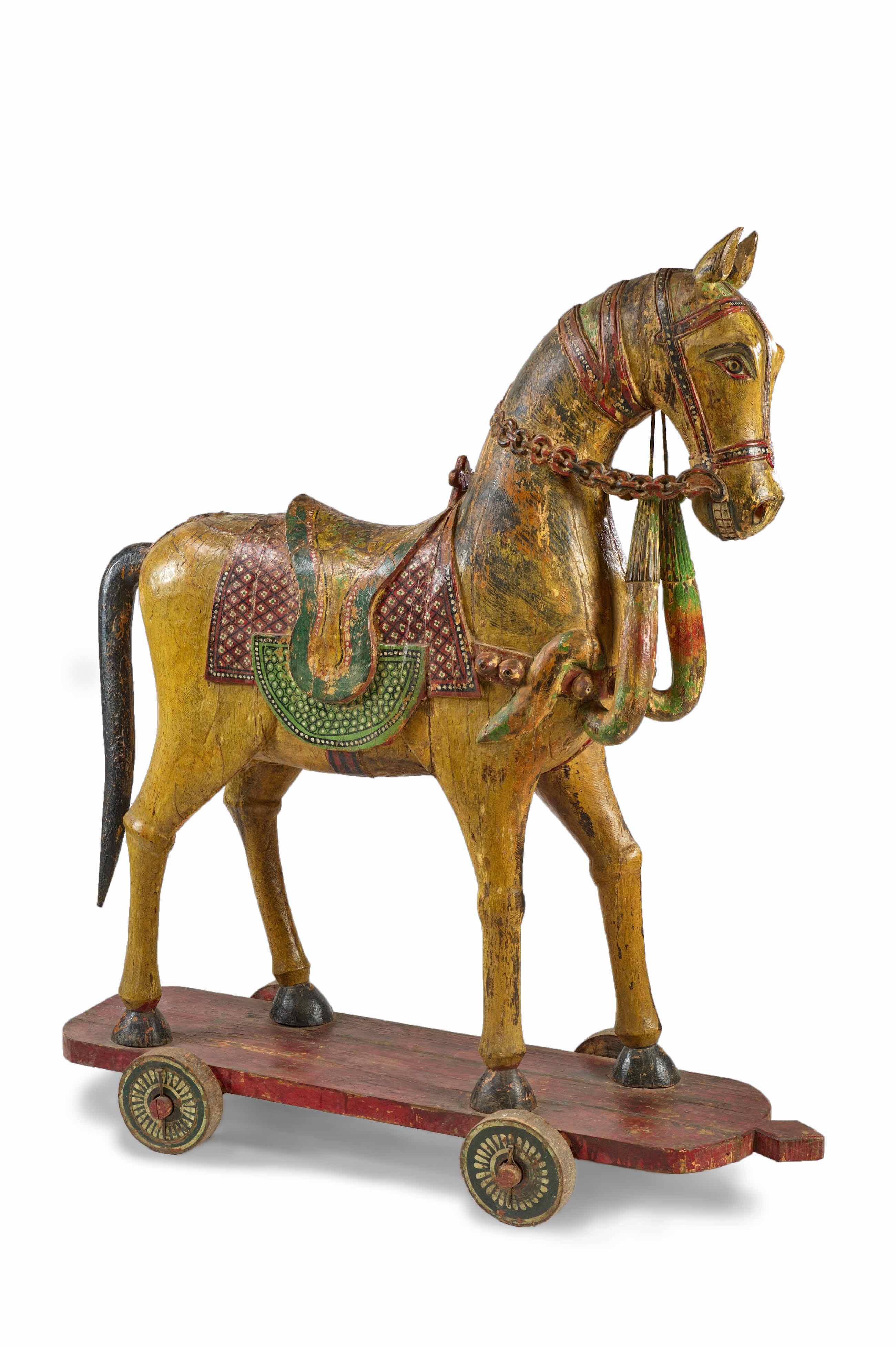 Marwari Holzpferd