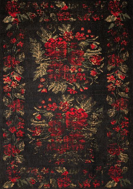 Teppich Vintage Arabesque Nero